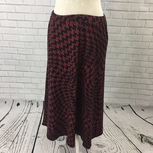 Plus Size Red and Black Optical Illusion Skirt